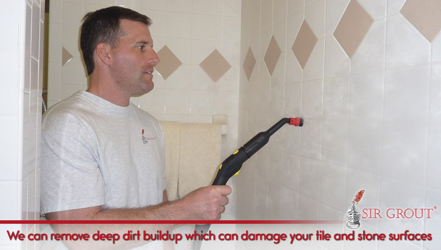 We can remove deep dirt buildup which can damage your tile and stone surfaces